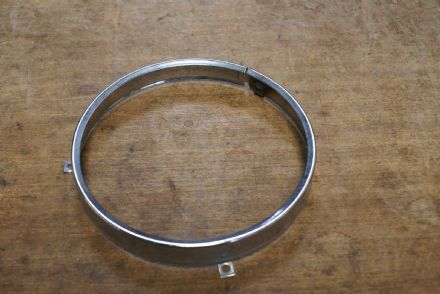 Headlight Bezel,Stainless Steel,Used Fair